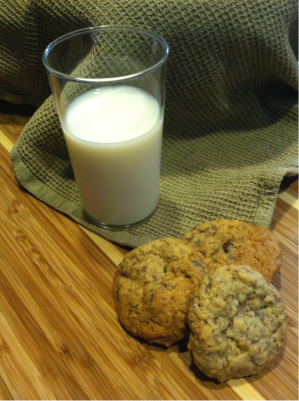 Neiman Marcus cookies and milk