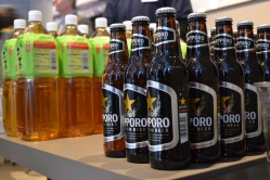 Saporo, a Japanese beer, was featured at the opening.