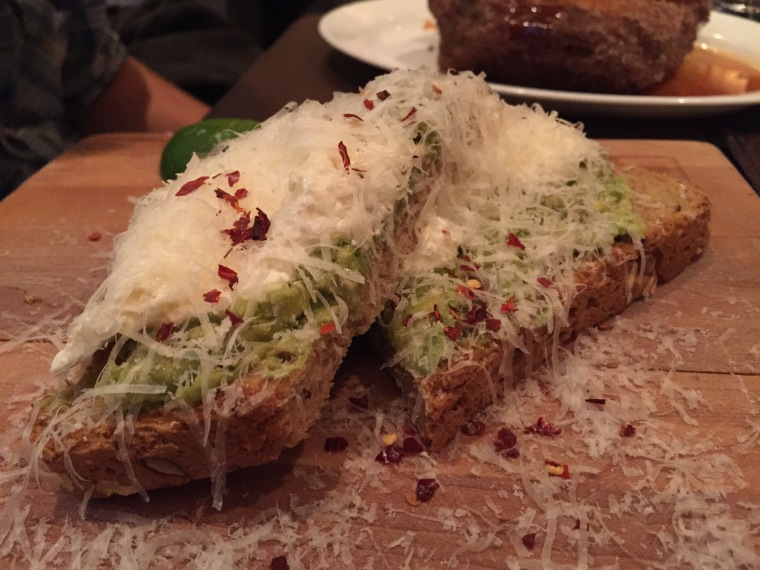 Avocado toast from MET Back Bay