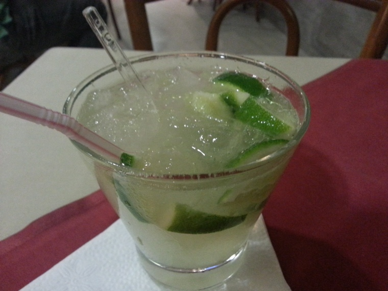 "The Caipirinha, the ""best drink in the world"" and basically a lime-ade hopped up on sugar cane liquor"